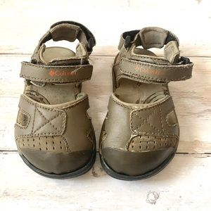 Toddler Columbia Sandals Olive Green Boys 5